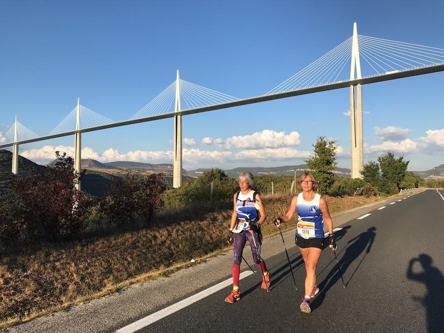 les 100 km de Millau en marche nordique Corinn10