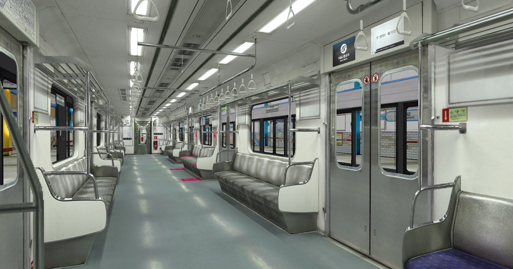 Seoul Metro Commuter train 7000 series 2nd [Download] Wls410