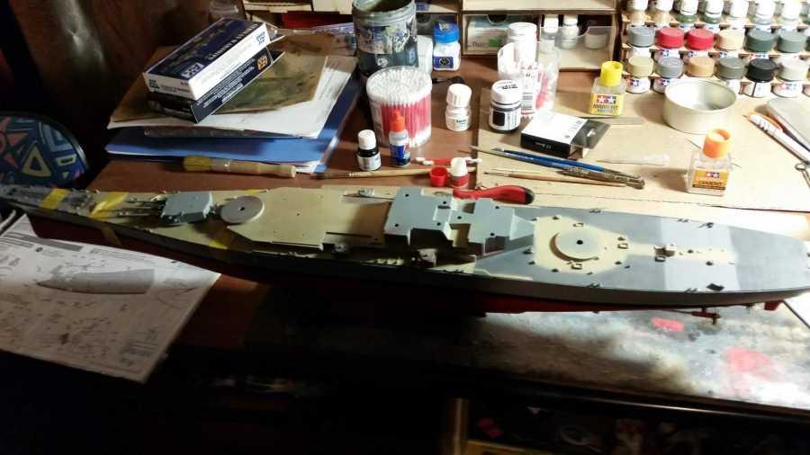 линкор USS New Jersey 1/350 311