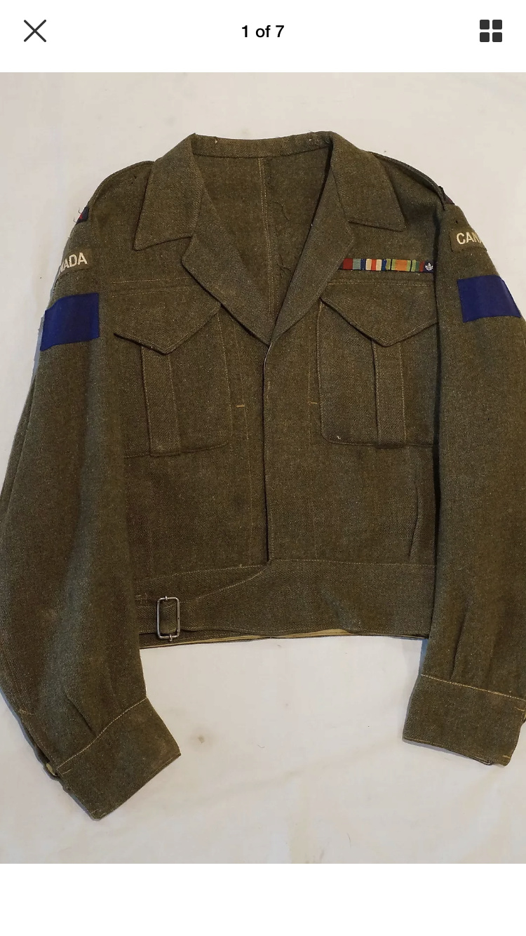 WWII Battle Dress 2nd Division 5th RCA B78c8710