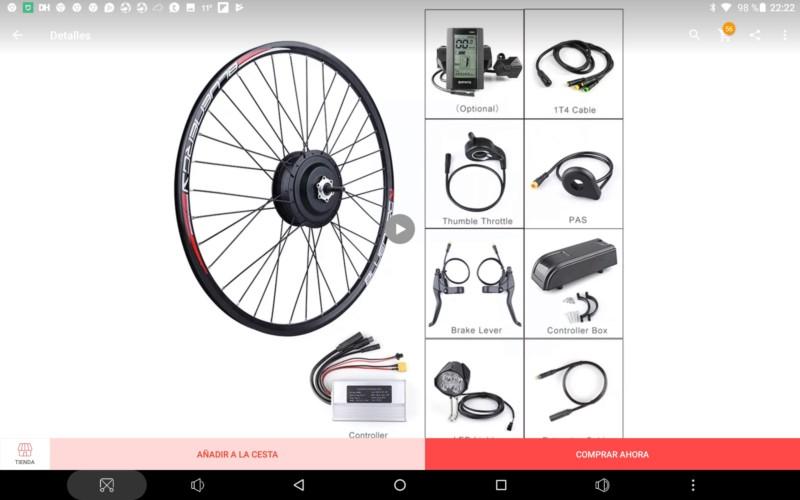 Electrificar bicicleta Trek 6000 (año 2012). 20181213
