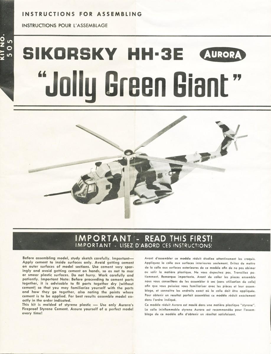 [AURORA] SIKORSKY HH-3E JOLLY GREEN GIANT 1/72ème Réf 505 Hh-3e_11