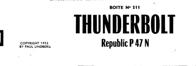 Republic P-47N-1-RE Thunderbolt, Lindberg, 1/48, 1952 P-47n-10