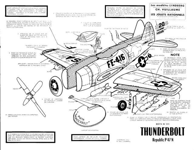 Republic P-47N-1-RE Thunderbolt, Lindberg, 1/48, 1952 P-47n-11