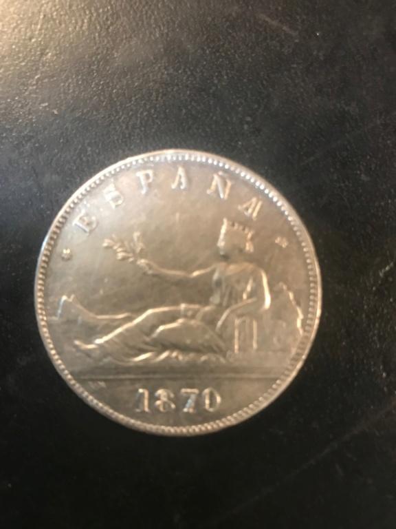 5 pesetas 1870 Gobierno provisional Img-9214