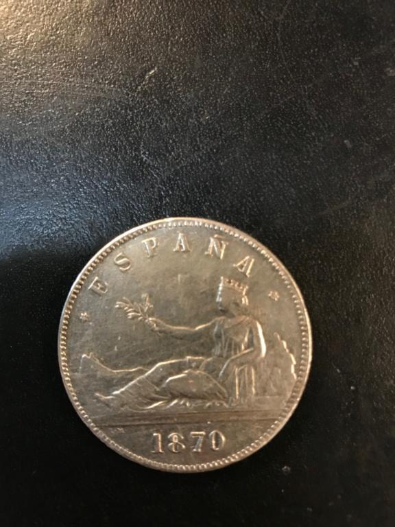 5 pesetas 1870 Gobierno provisional Img-9217