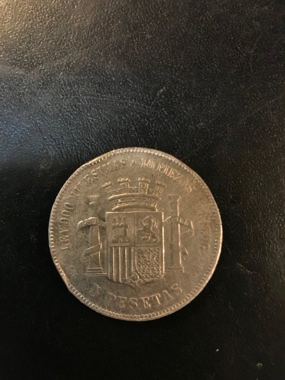 5 pesetas 1870 Gobierno provisional Img-9218
