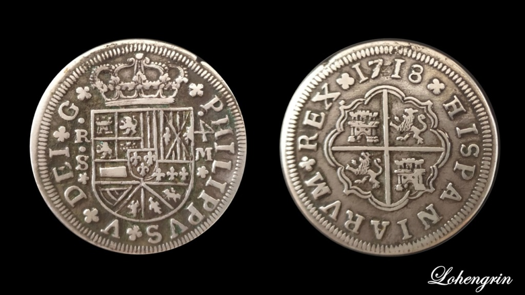 4 reales Felipe V, Sevilla 1718 - Dedicado Diapos12