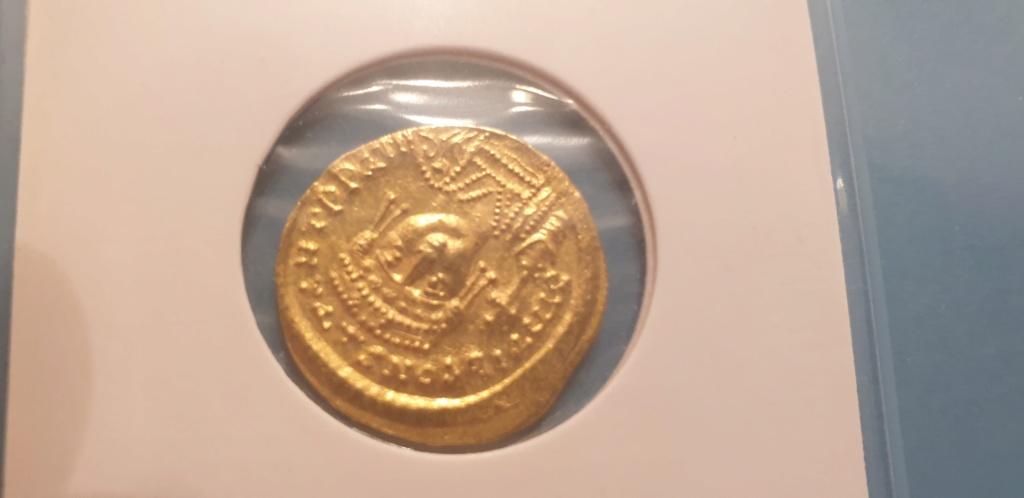 Solido  Tiberius II. Constantin AV-Solidus Constantinopel &  Heraclius + Sohn AV-Solidus Constantinopel 2019-097