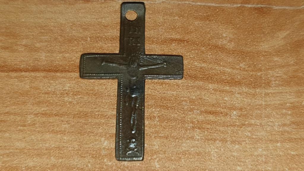 Crucifijo bifaz con Inmaculada Concepción, S. XIX Whatsa12