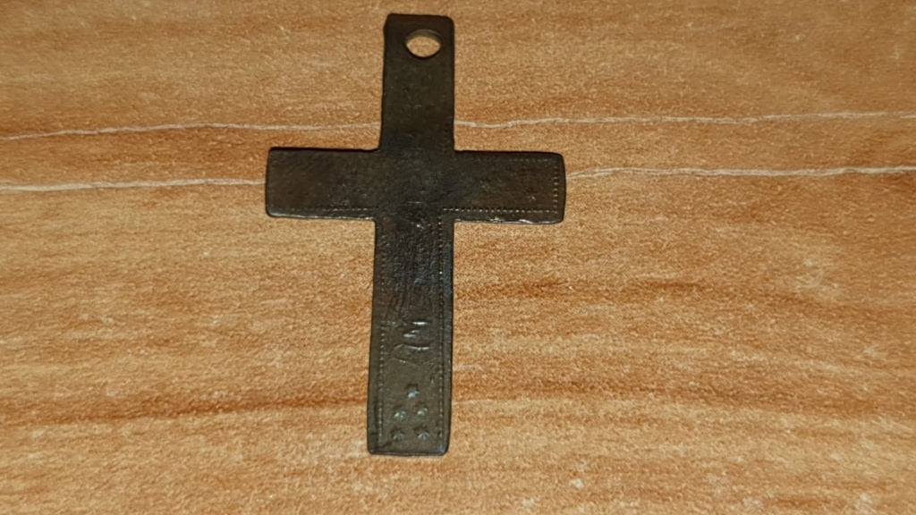 Crucifijo bifaz con Inmaculada Concepción, S. XIX Whatsa13