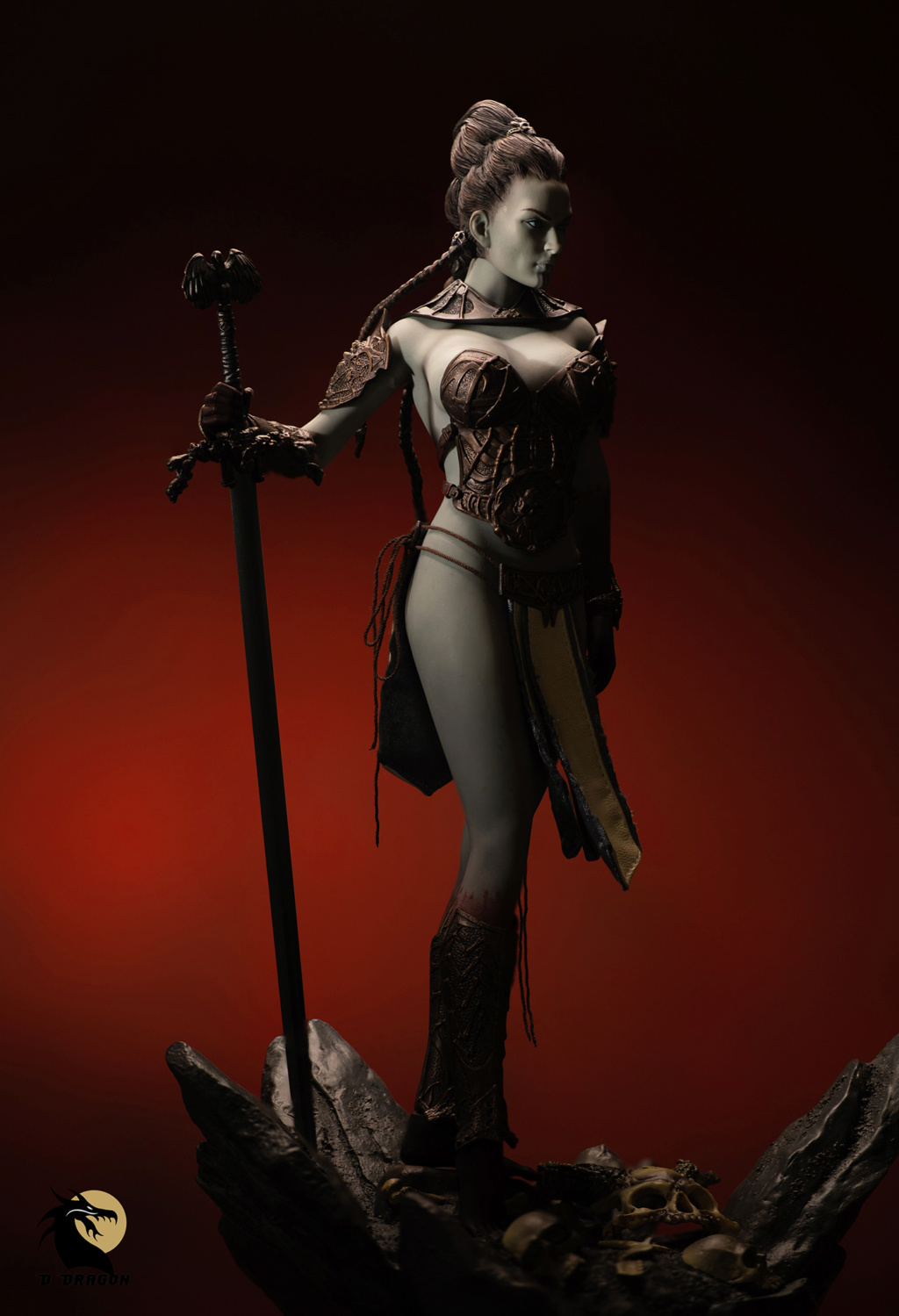 tbleague - NEW PRODUCT: TBLeague & Sideshow: 1/6 Court of the Dead - Valkyrie Cole / Kier movable doll (PL2019-141) Kier_110