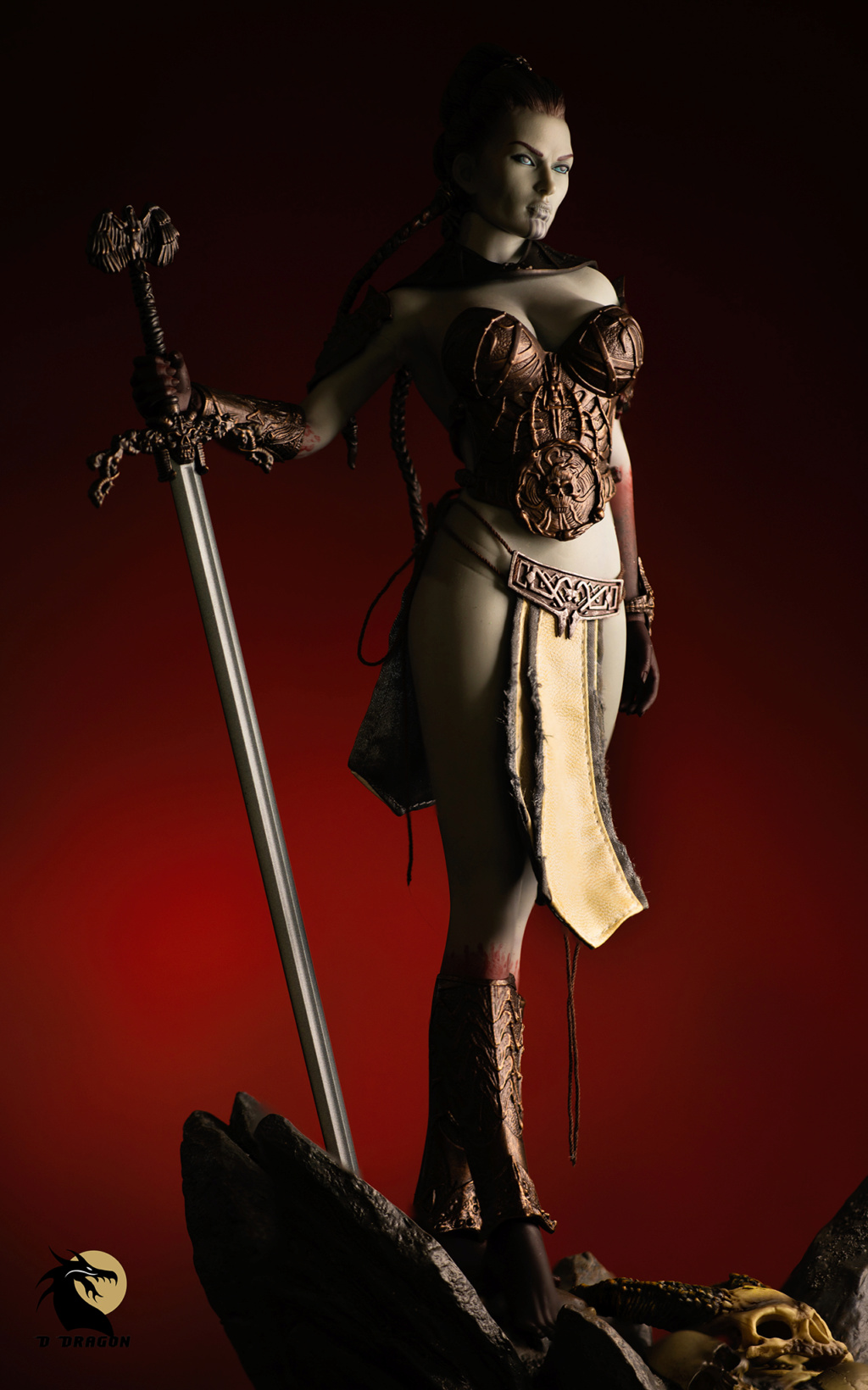 tbleague - NEW PRODUCT: TBLeague & Sideshow: 1/6 Court of the Dead - Valkyrie Cole / Kier movable doll (PL2019-141) Kier_410
