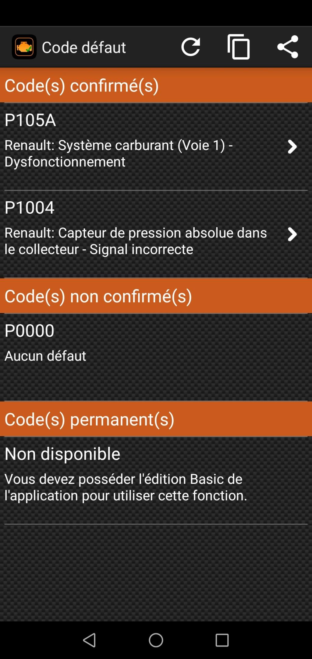 [ Renault Twingo 1.2 16v an 2001 ] Voyant défaillance électronique Screen10