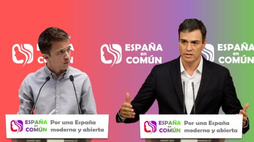 [PSOE-UP] Rueda de prensa de Pedro Sánchez e íñigo Errejón. Compar14