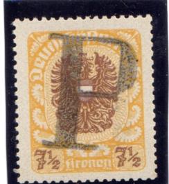 """Porto Provisorium """"P"""" - Deutsch Österreich Zsterr12"""