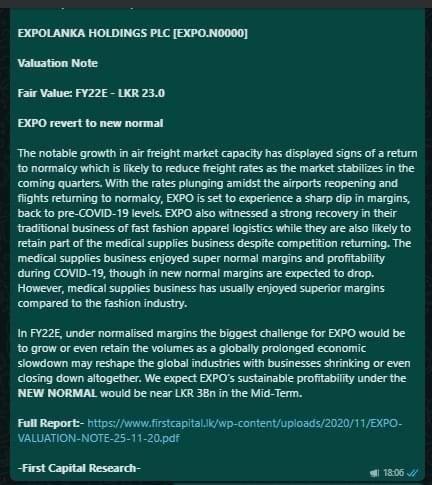 EXPOLANKA HOLDINGS PLC (EXPO.N0000) - Page 20 B5680310