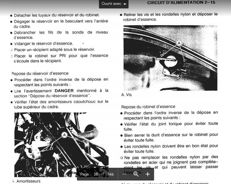 Démontage réservoir Screen11