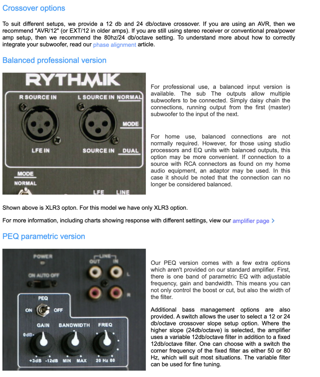 Rythmik G22 Dual opposed 12″ sealed audiophile Direct Servo subwoofer 0e4bfc10