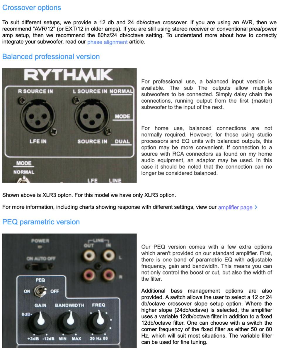Rythmik G25HP SE Direct Servo Subwoofer Dual opposed 15″ 0e4bfc11