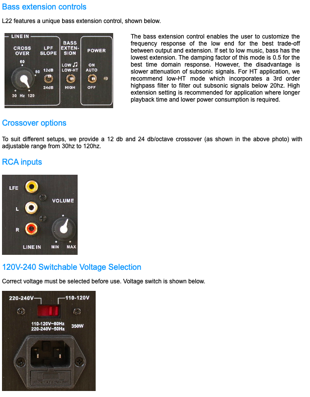 Rythmik L22 Direct Servo subwoofer Dual 12″ driver HT/music sub 2c232610