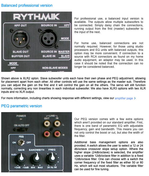 Rythmik F12 Direct Servo subwoofer 12″ sealed audiophile subwoofer 31f16d10