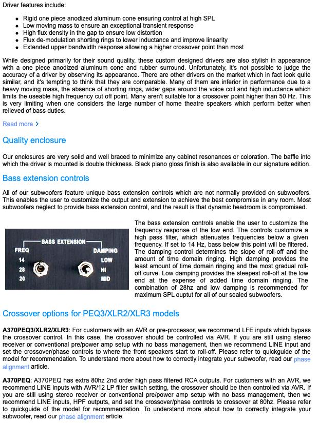 Rythmik F12 Direct Servo subwoofer 12″ sealed audiophile subwoofer A1260610