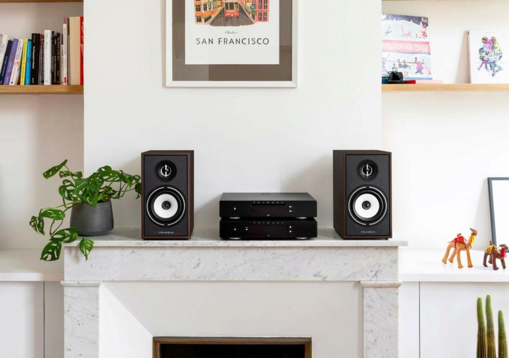 Triangle BR-02 Bookshelf Speaker (Pair) + Free Gift Br02-l10
