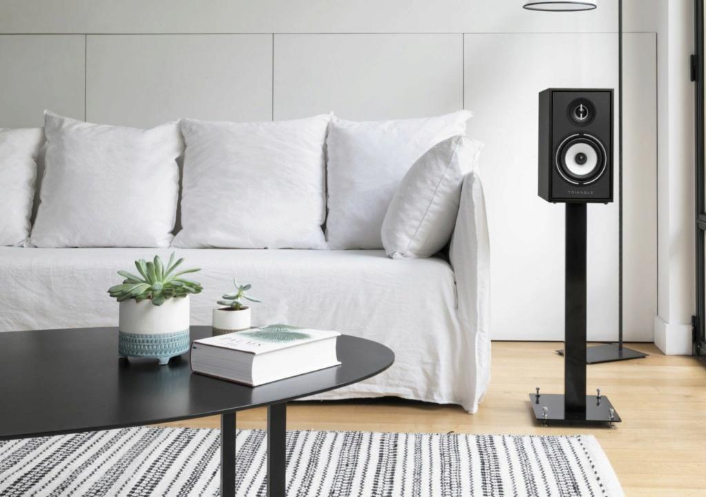 Triangle BR-02 Bookshelf Speaker (Pair) + Free Gift Br02-l11