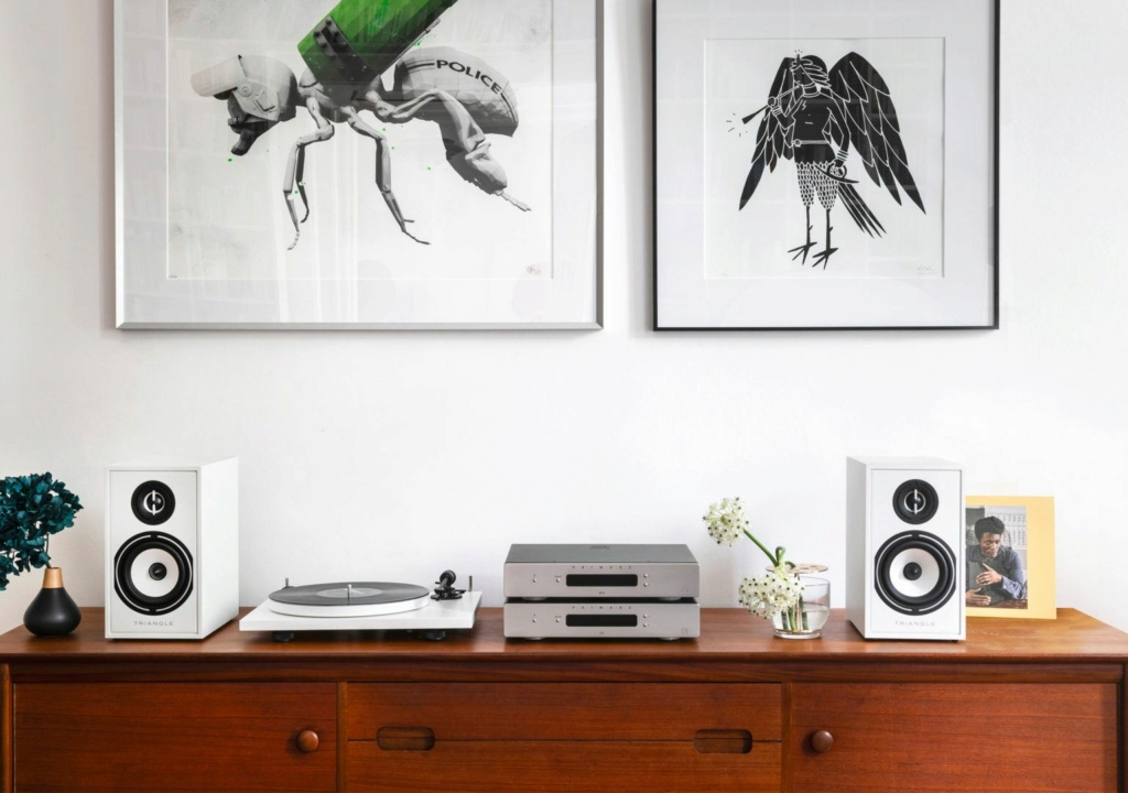 Triangle BR-02 Bookshelf Speaker (Pair) + Free Gift Br02-l12