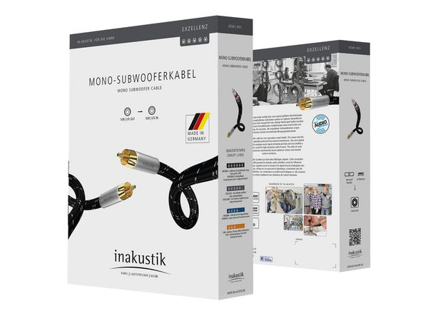 Inakustik Excellence Mono Subwoofer Cable (5meter) Csm_0045