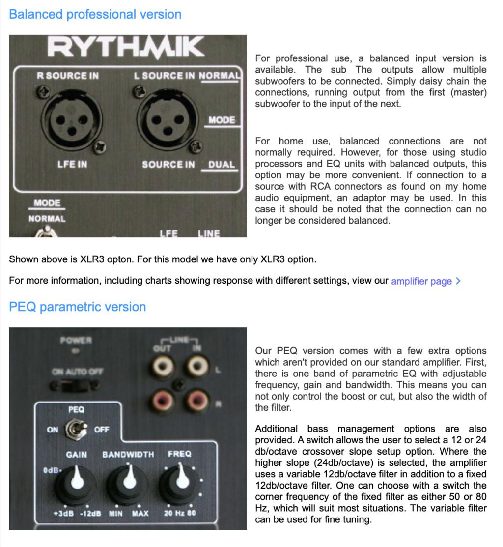 Rythmik F18 Direct Servo subwoofer 18″ Scree115