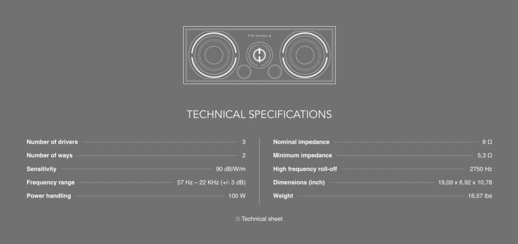 Triangle BRC-01 Center Channel Speaker Scree131