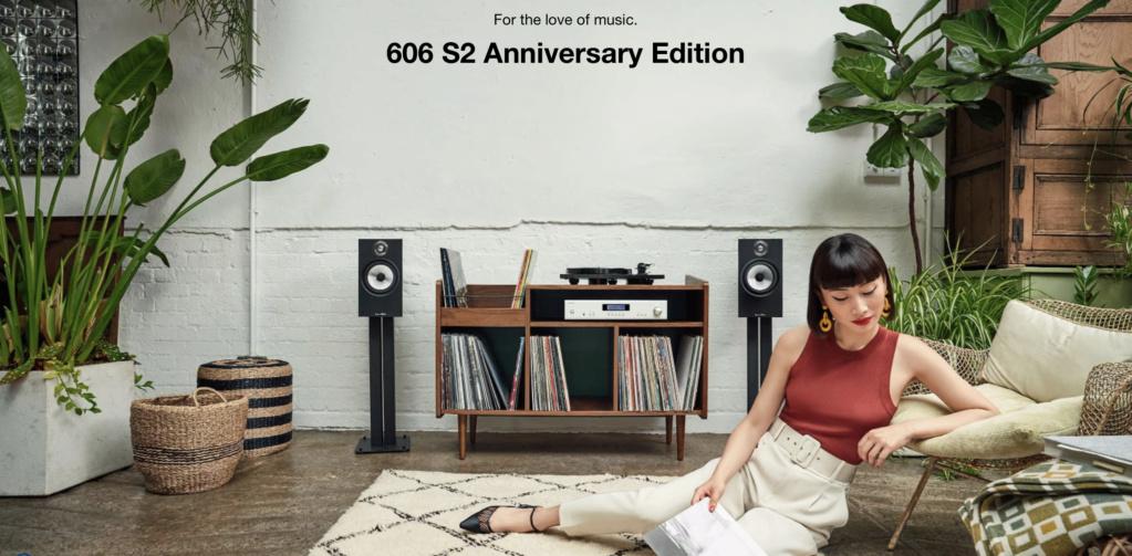 Bowers & Wilkins 606 S2 Anniversary Edition Bookshelf Speaker (Light Oak) (Pair) Scree132