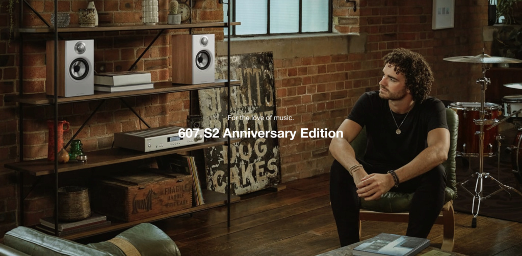 Bowers & Wilkins 607 S2 Anniversary Edition Bookshelf Speaker (Light Oak) (Pair)  Scree134