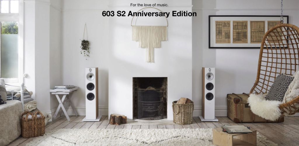 Bowers & Wilkins 603 S2 Anniversary Edition Floorstanding Speaker (Light Oak) (Pair) Scree136