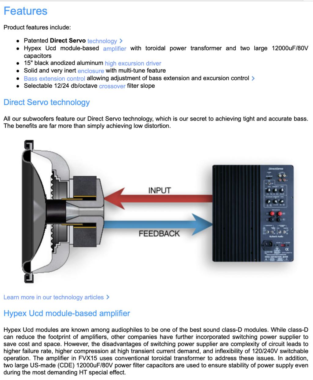 FVX15 Direct Servo Subwoofer 15″ ported audiophile sub Screen70