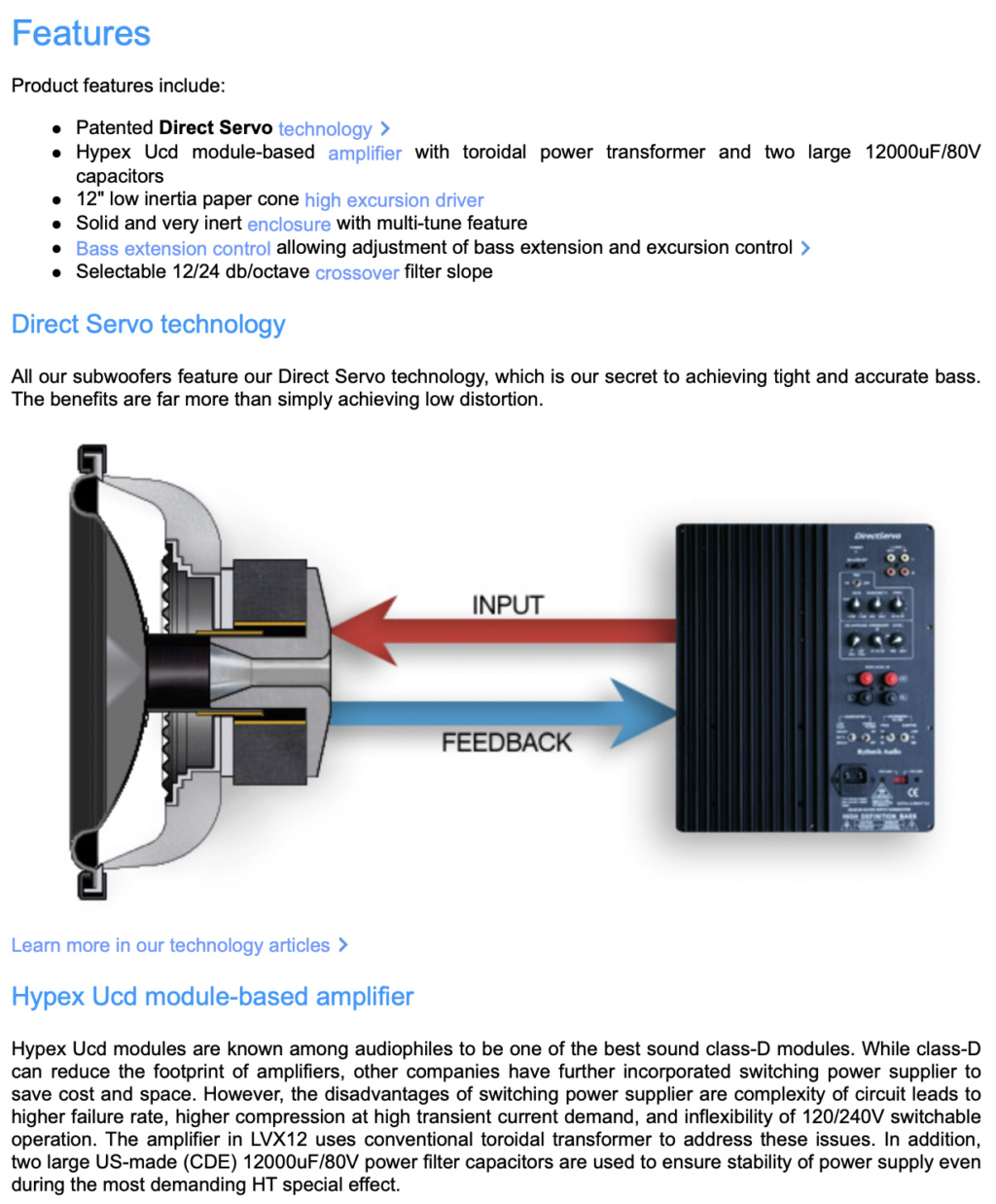 LVX12 Direct Servo Subwoofer 12″ multi-tuned ported audiophile sub Screen77