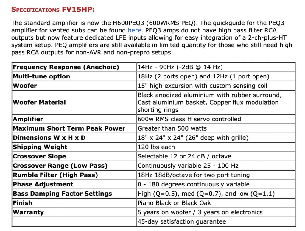 Rythmik FV15HP Direct Servo subwoofer 15″ (Piano Gloss) Screen85