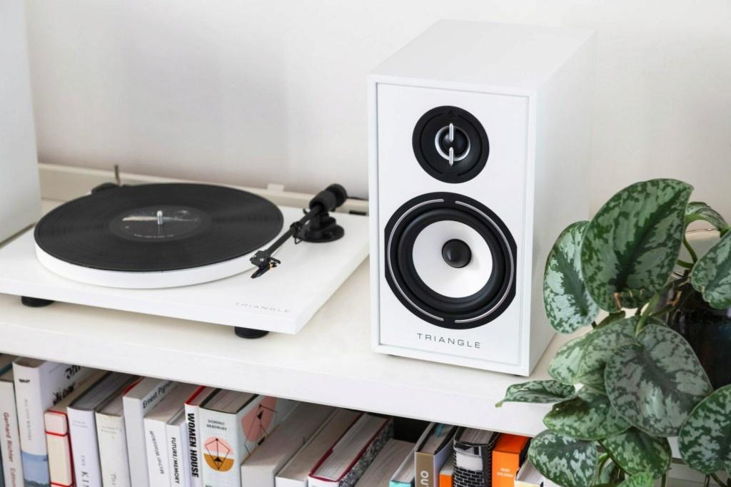 Triangle BR-02 Bookshelf Speaker (Pair) + Free Gift Triang10