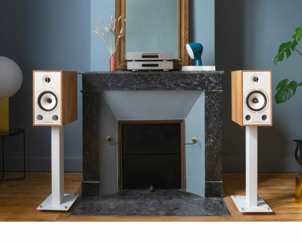 Triangle BR-03 Bookshelf Speaker (Pair) + Free Gift Triang11