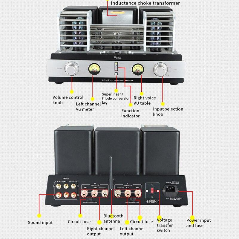 Yaqin MS-34B HIFI EL34 tube integrated push-pull HiFi Bluetooth amplifier Yaqin-32