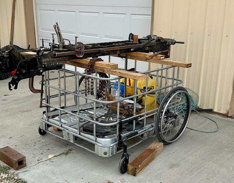 A Rat Rod Wheelbarrow Bucket T Tractor/Kart for my Grandson - Page 5 097bb410