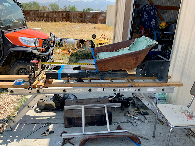 A Rat Rod Wheelbarrow Bucket T Tractor/Kart for my Grandson 413b1a10