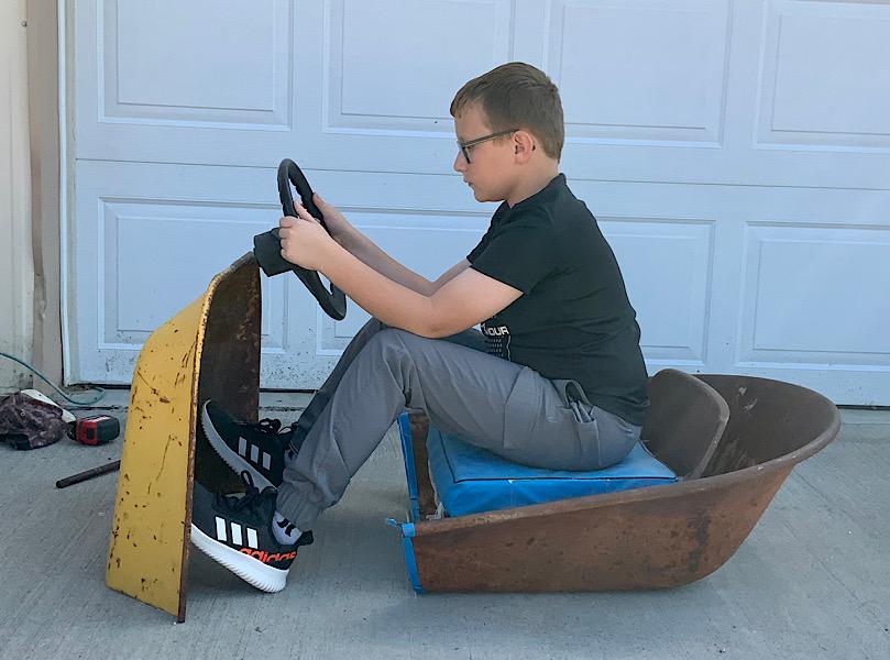 A Rat Rod Wheelbarrow Bucket T Tractor/Kart for my Grandson - Page 4 56da1b10