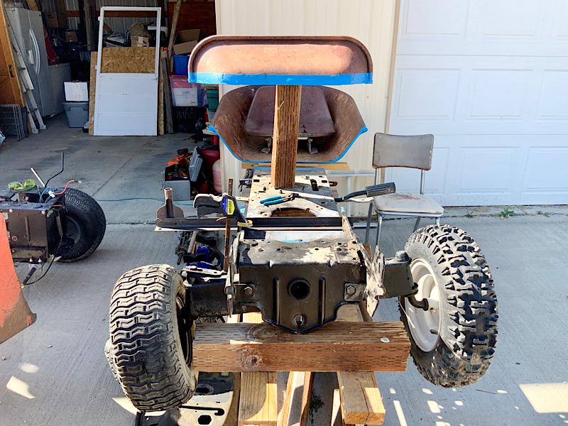 A Rat Rod Wheelbarrow Bucket T Tractor/Kart for my Grandson - Page 2 6b450b10