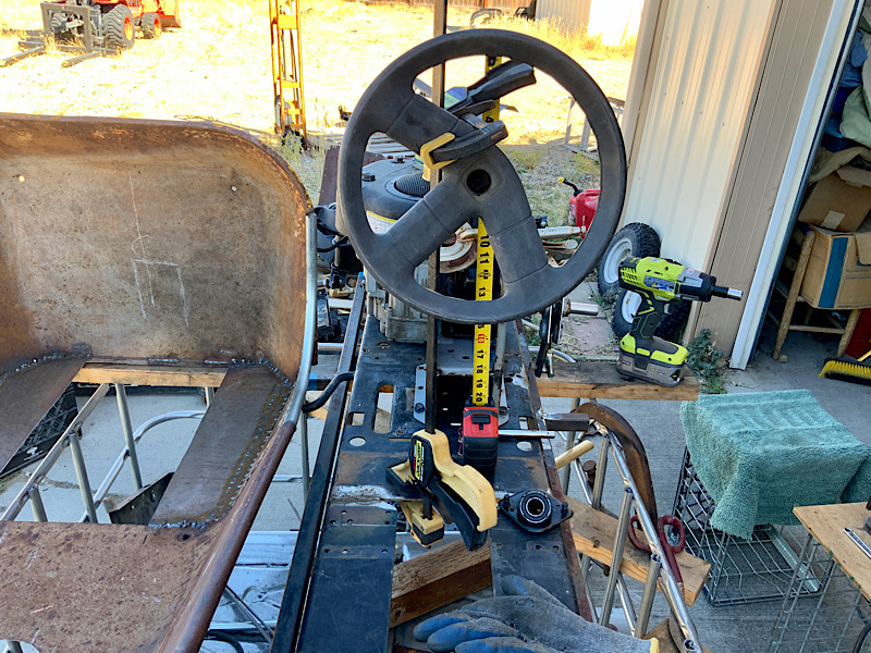 A Rat Rod Wheelbarrow Bucket T Tractor/Kart for my Grandson - Page 4 70872210