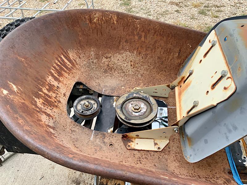 A Rat Rod Wheelbarrow Bucket T Tractor/Kart for my Grandson - Page 4 80299f10