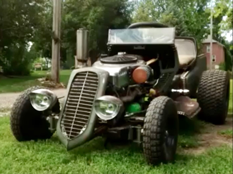 A Rat Rod Wheelbarrow Bucket T Tractor/Kart for my Grandson F098a710
