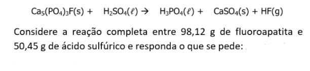 Estequiometria ( Reagente limitante e em excesso) Captur12